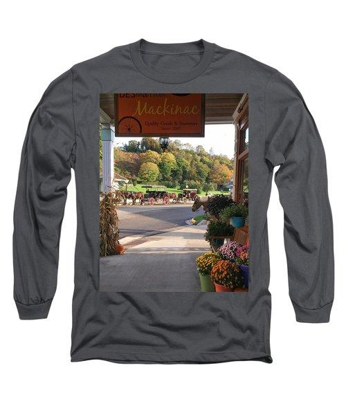 Autumn Morning On Mackinac Island Long Sleeve T-Shirt