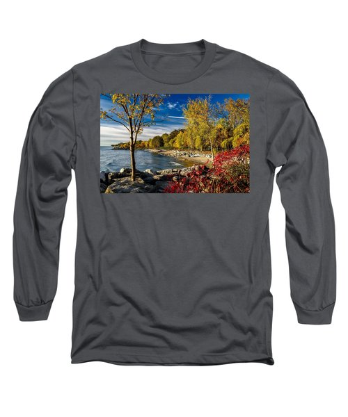 Autumn Scene Lake Ontario Canada Long Sleeve T-Shirt