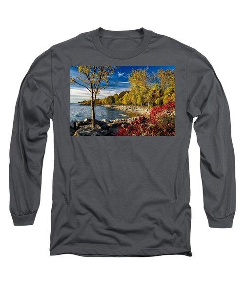 Autumn Scene Lake Ontario Canada Long Sleeve T-Shirt
