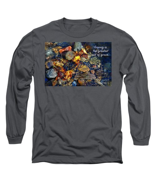 Long Sleeve T-Shirt featuring the drawing Autumn Splash Grace by Diane E Berry