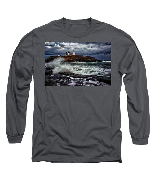 Autumn Storm At Cape Neddick Long Sleeve T-Shirt