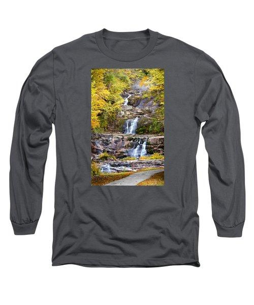 Autumn Waterfall Long Sleeve T-Shirt by Brian Caldwell