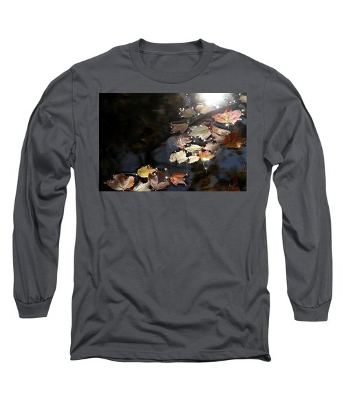 Long Sleeve T-Shirt featuring the photograph Autumn With Leaves On Water by Emanuel Tanjala