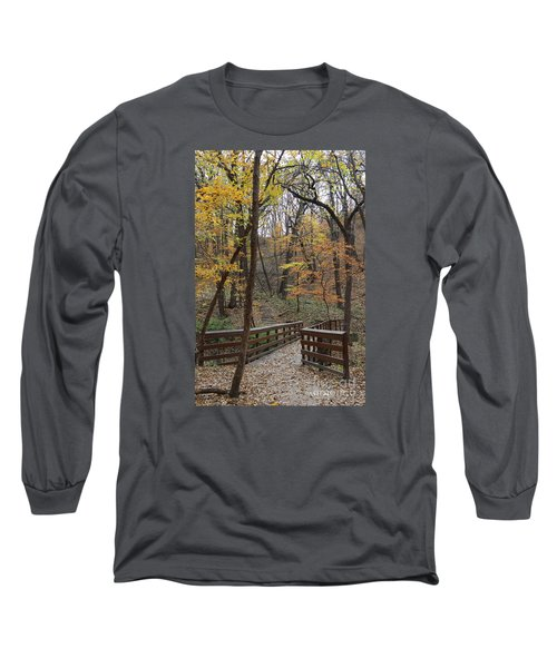 Autumnal Leaves Long Sleeve T-Shirt by Yumi Johnson