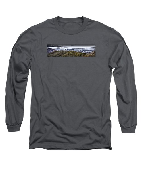 Autumnal Mountains Long Sleeve T-Shirt by Walt Foegelle