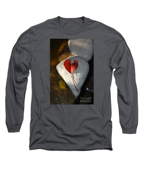 Autumn's Love And Serenity Long Sleeve T-Shirt by Debra Thompson