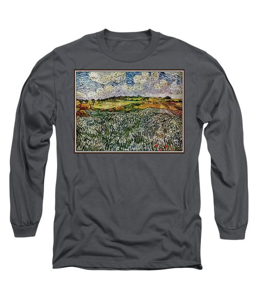 Landscape Auvers28 Long Sleeve T-Shirt by Pemaro