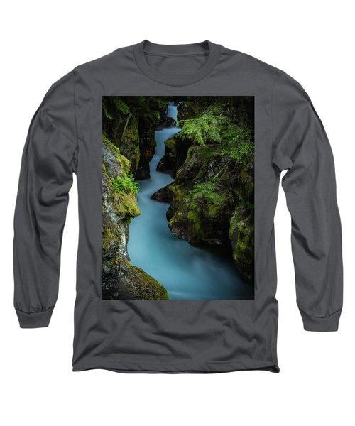 Avalanche Creek- Glacier National Park Long Sleeve T-Shirt