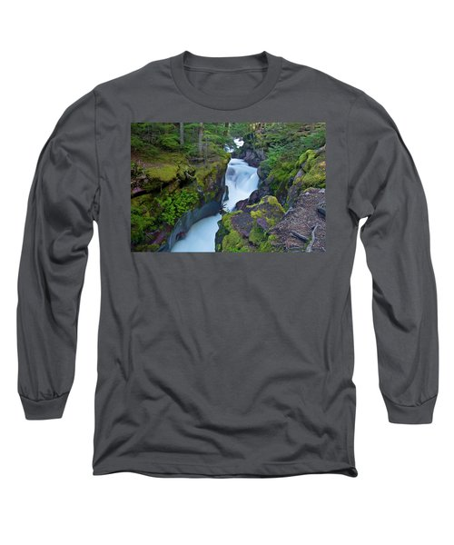 Long Sleeve T-Shirt featuring the photograph Avalanche Gorge 7 by Gary Lengyel