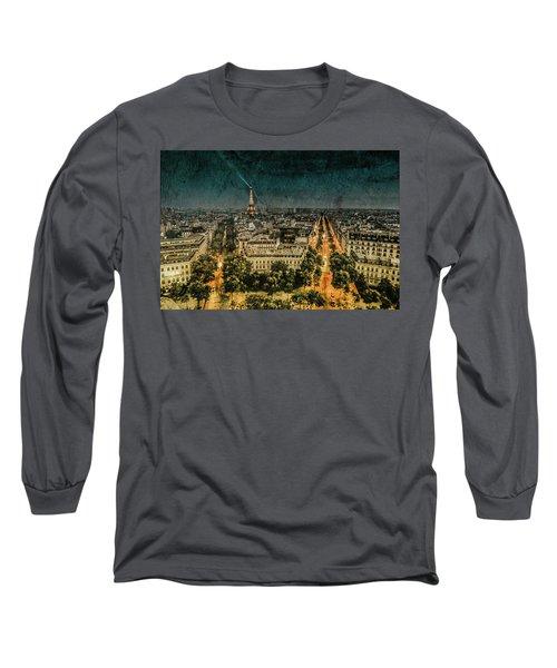 Paris, France - Avenue Kleber Long Sleeve T-Shirt