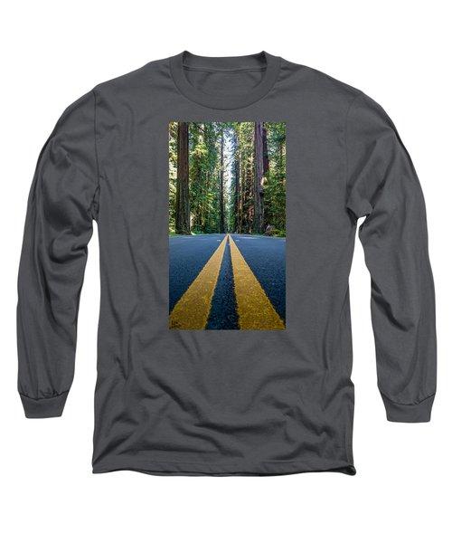 Avenue Of The Giants Long Sleeve T-Shirt by Alpha Wanderlust