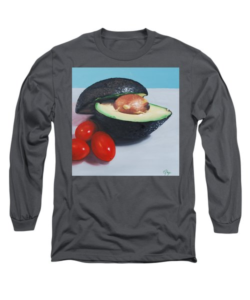 Avocado And Cherry Tomatoes Long Sleeve T-Shirt