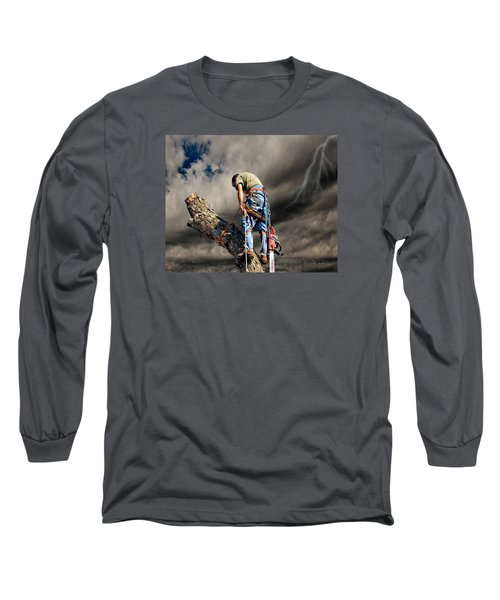 Ax Man Long Sleeve T-Shirt by Mark Allen