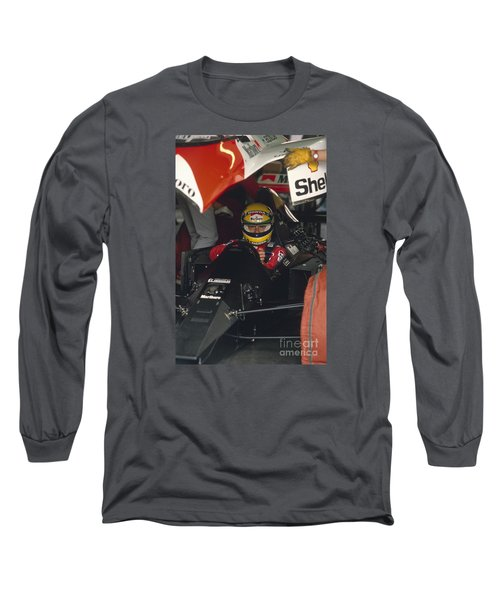 Ayrton Senna. 1990 Italian Grand Prix Long Sleeve T-Shirt