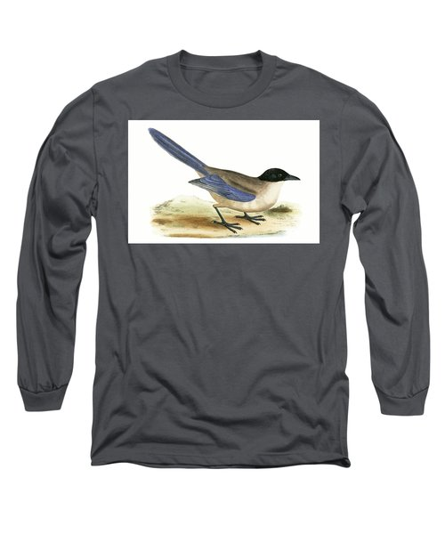 Azure Winged Magpie Long Sleeve T-Shirt