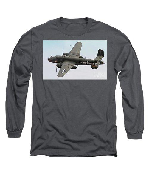 B-25 Mitchell Bomber Aircraft Long Sleeve T-Shirt