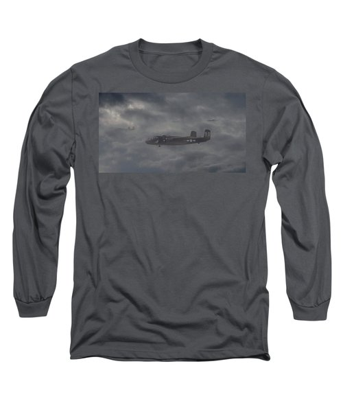 Long Sleeve T-Shirt featuring the digital art B25 - 12th Usaaf by Pat Speirs