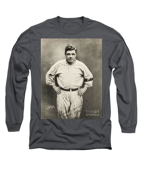 Babe Ruth Portrait Long Sleeve T-Shirt