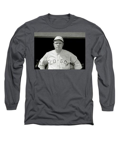 Babe Ruth Red Sox Long Sleeve T-Shirt by Jon Neidert