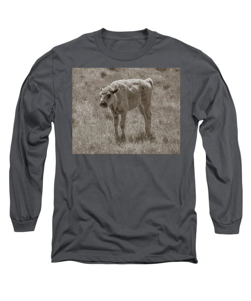 Long Sleeve T-Shirt featuring the photograph Baby Buffalo by Rebecca Margraf