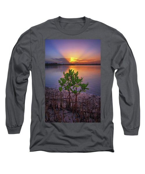 Baby Mangrove Sunset At Indian River State Park Long Sleeve T-Shirt