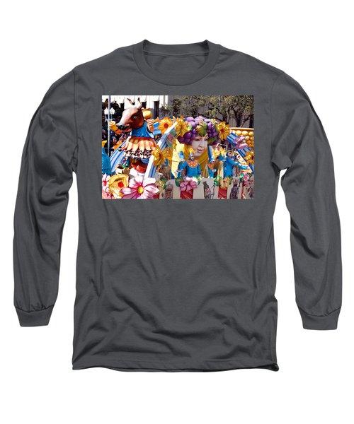 Bacchus Mardis Gras Float Long Sleeve T-Shirt by Carol M Highsmith