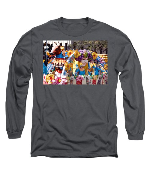Bacchus Mardis Gras Float Long Sleeve T-Shirt