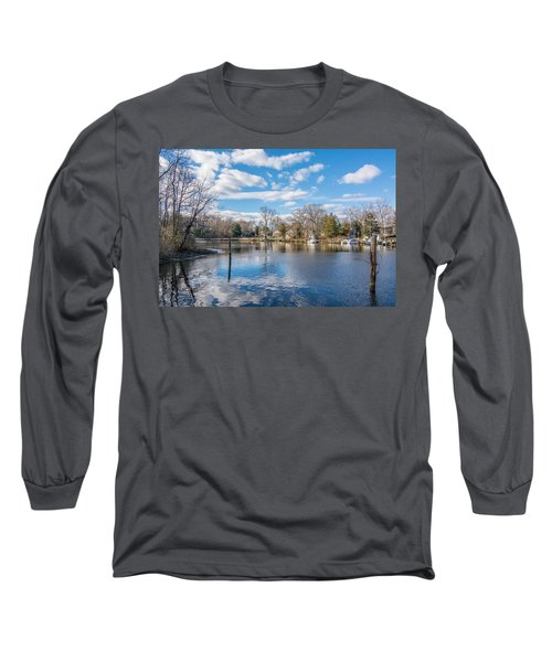 Long Sleeve T-Shirt featuring the photograph Back Creek by Charles Kraus