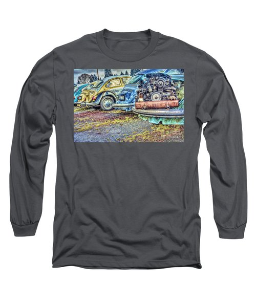 Long Sleeve T-Shirt featuring the photograph Back End Bugs by Jean OKeeffe Macro Abundance Art