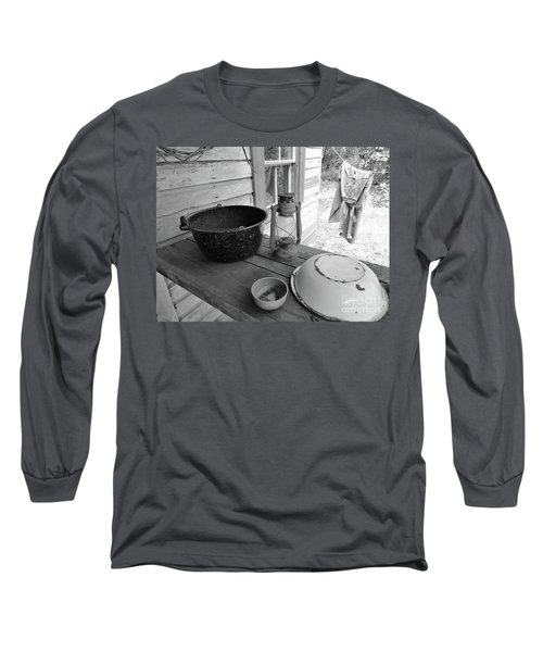 Back In Time B - W Long Sleeve T-Shirt