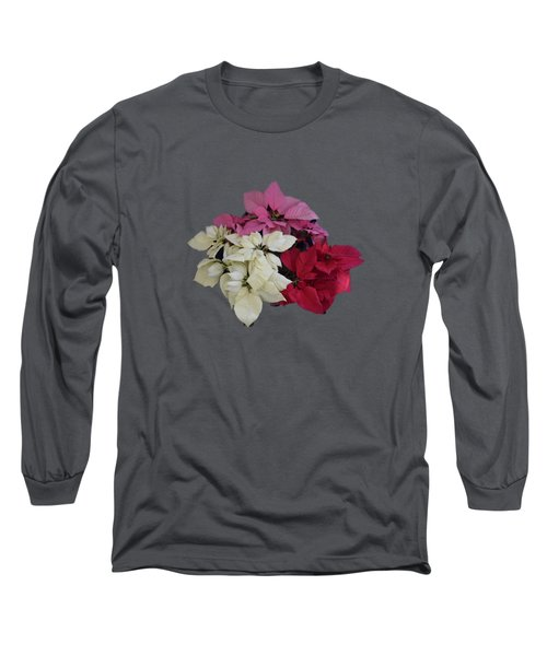 Background Choice-pointsettias Long Sleeve T-Shirt