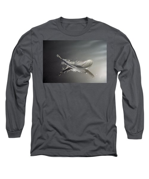 Backlit Feather Long Sleeve T-Shirt