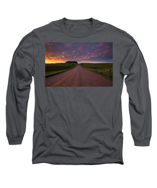 Long Sleeve T-Shirt featuring the photograph Backroad To Heaven  by Aaron J Groen