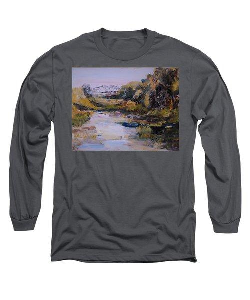 Backwater Near Sertoma Park Long Sleeve T-Shirt