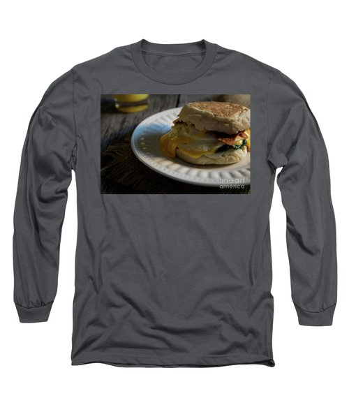 Long Sleeve T-Shirt featuring the photograph Bacon And Cheese by Deborah Klubertanz