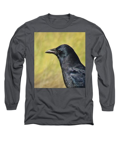 Corvus Corax Long Sleeve T-Shirt by Michele Penner
