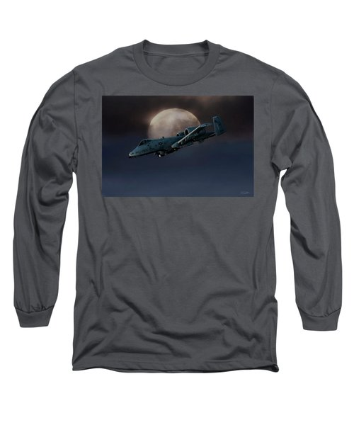 Long Sleeve T-Shirt featuring the digital art Bad Moon by Peter Chilelli