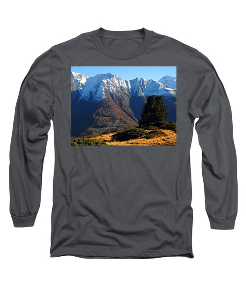 Baettlihorn In Valais, Switzerland Long Sleeve T-Shirt