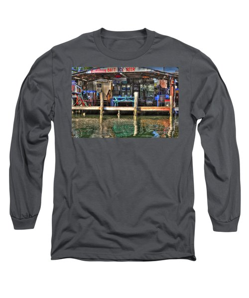 Bait Ice  Beer Shop On Bay Long Sleeve T-Shirt