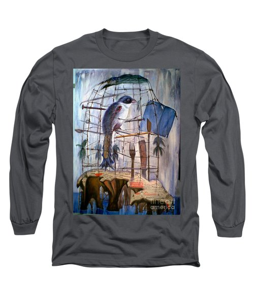 Bajo Mis Propias Alas Long Sleeve T-Shirt by Jorge L Martinez Camilleri