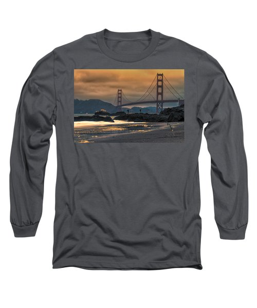 Baker Beach Golden Gate Long Sleeve T-Shirt