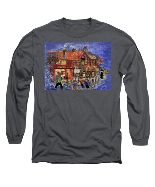 Bakers Inn Winter Holiday Landscape Long Sleeve T-Shirt