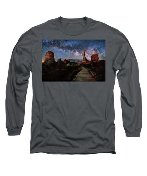 Balanced Rock Milky Way Long Sleeve T-Shirt