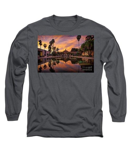 Balboa Park Botanical Building Sunset Long Sleeve T-Shirt