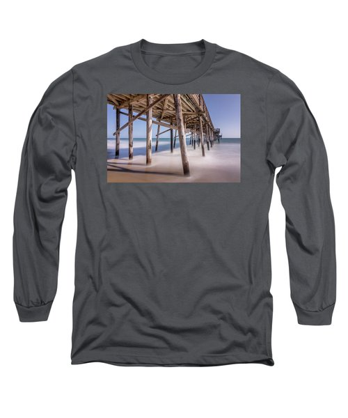 Long Sleeve T-Shirt featuring the photograph Balboa Pier by Jeremy Farnsworth