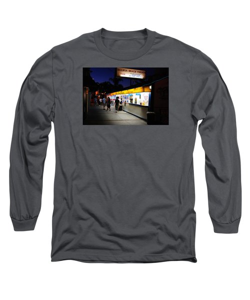Long Sleeve T-Shirt featuring the photograph Balboa Pier Nghts by James Kirkikis