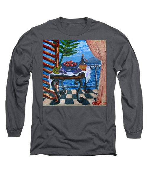 Balcony By The Mediterranean Sea Long Sleeve T-Shirt