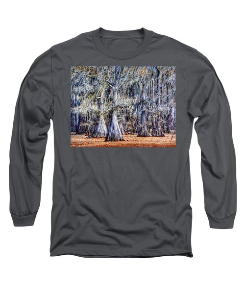 Bald Cypress In Caddo Lake Long Sleeve T-Shirt by Sumoflam Photography