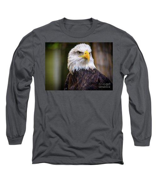 Bald Eagle Long Sleeve T-Shirt by Lisa L Silva