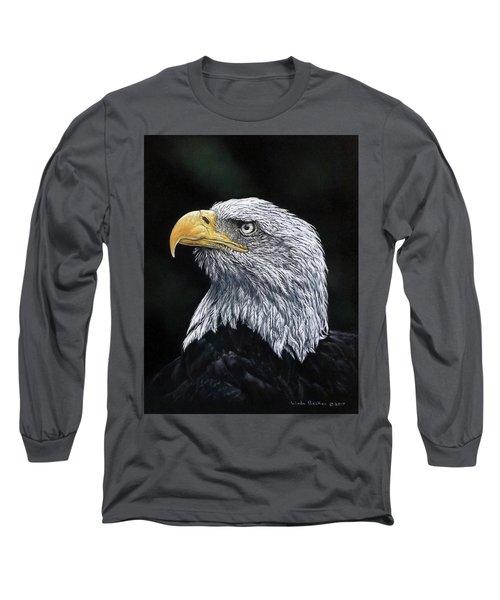 Bald Eagle Long Sleeve T-Shirt by Linda Becker